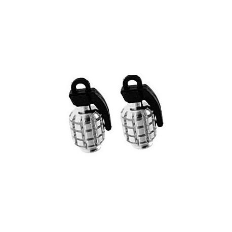 Grenade Valve Caps Chrome