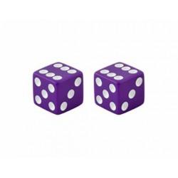 Dice Valve Caps Purple