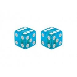 Dice Valve Caps Clear/Blue