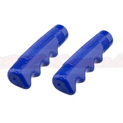 Solid Blue Lowrider Grips