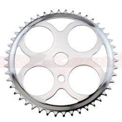 Sprocket W/4 Circles 46t 1/2 X 1/8 Chrome.