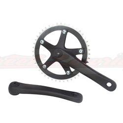 Alloy 8106 Chainwheel Set 44T x 170mm Black