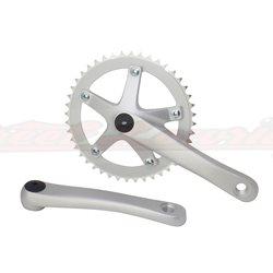 Alloy 8106 Chainwheel Set 44T x 170mm Silver