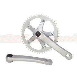 Alloy Chainwheel Set 48T x 170mm Matt Silver