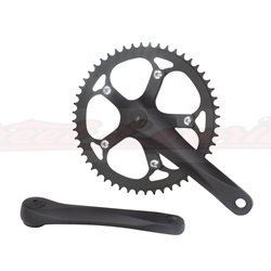 Alloy Chainwheel Set 48T x 170mm Matt Black