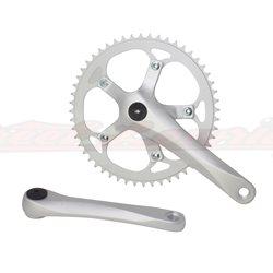 Alloy Chainwheel Set 52T x 175mm Matt Silver