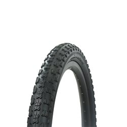 "Tire 18"" x 1.95"" Black/Black Side Wall P-104A"