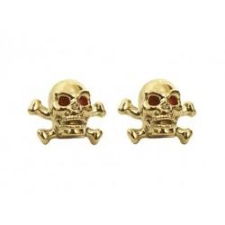 Skull & Bones Valve Caps White