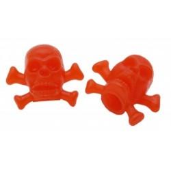 Skull & Bones Valve Caps Red