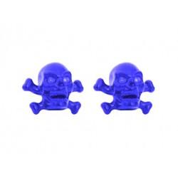 Skull & Bones Valve Caps Blue
