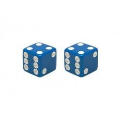 Dice Valve Caps Blue